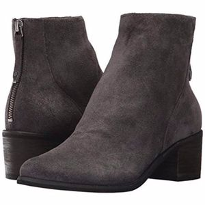Dolce Vita Cassius dark gray suede ankle boot